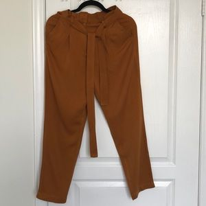 Forever 21 Camel Trousers - Removable Belt Sz S